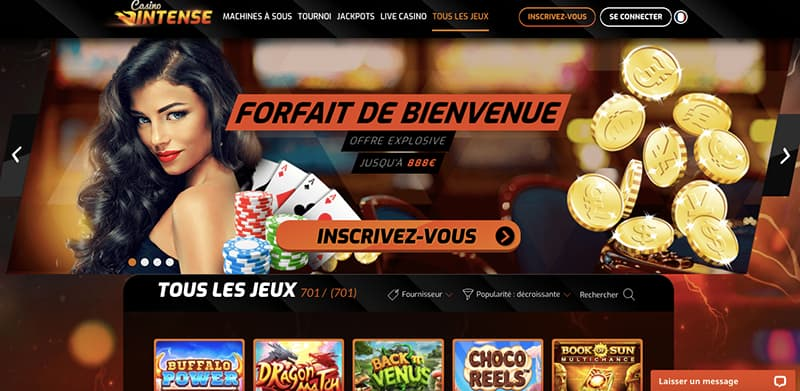 casino intense interface capture d'ecran