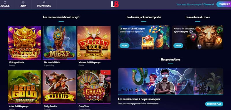 lucky8 jeux online